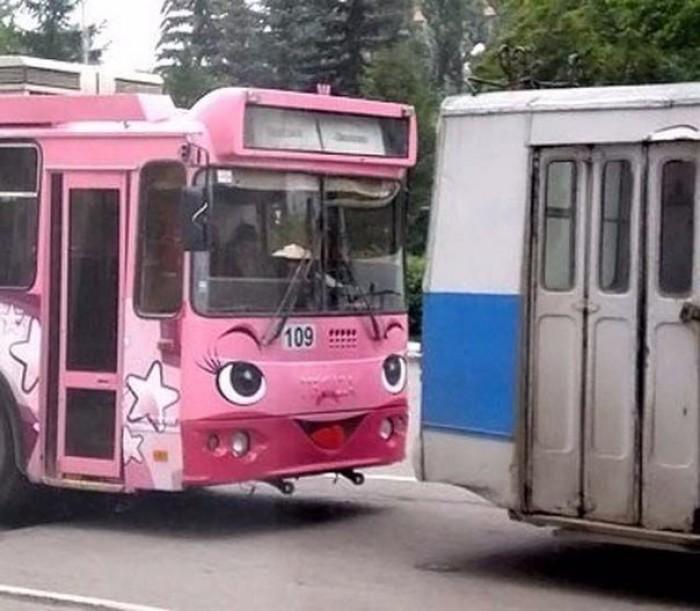 Прикольные картинки троллейбус, поздравлениями для